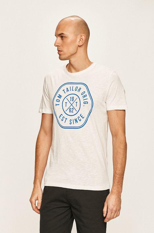 biały Tom Tailor Denim - T-shirt Męski