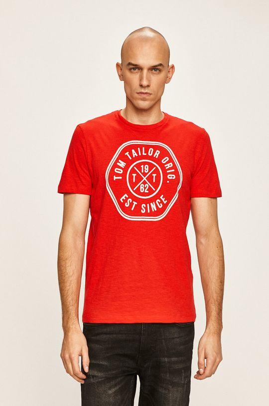 červená Tom Tailor Denim - Pánske tričko Pánsky