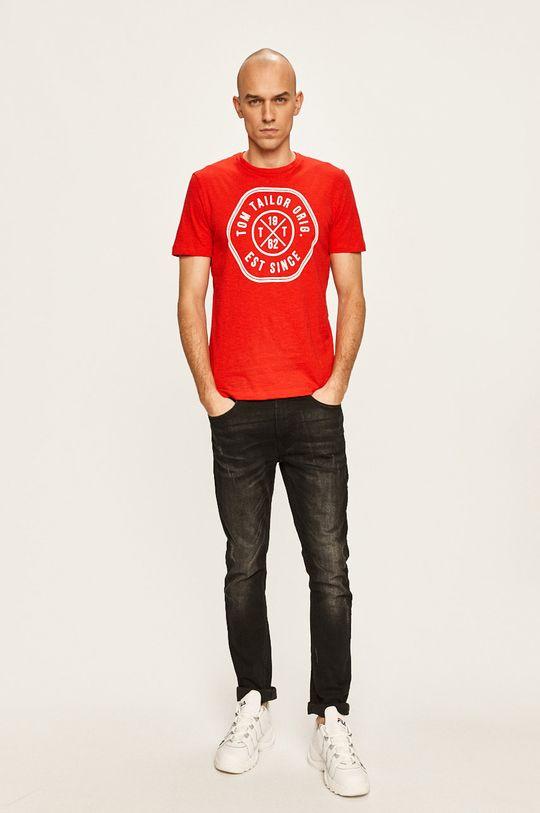Tom Tailor Denim - Pánske tričko červená
