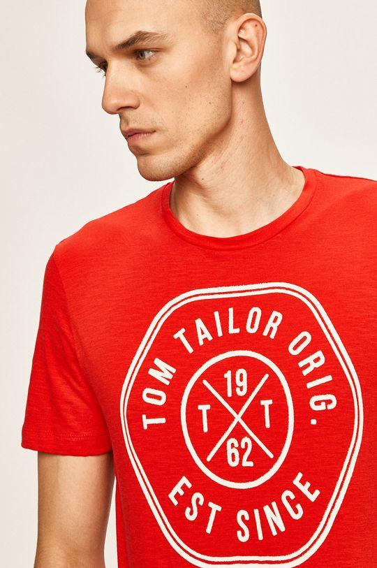 červená Tom Tailor Denim - Pánske tričko