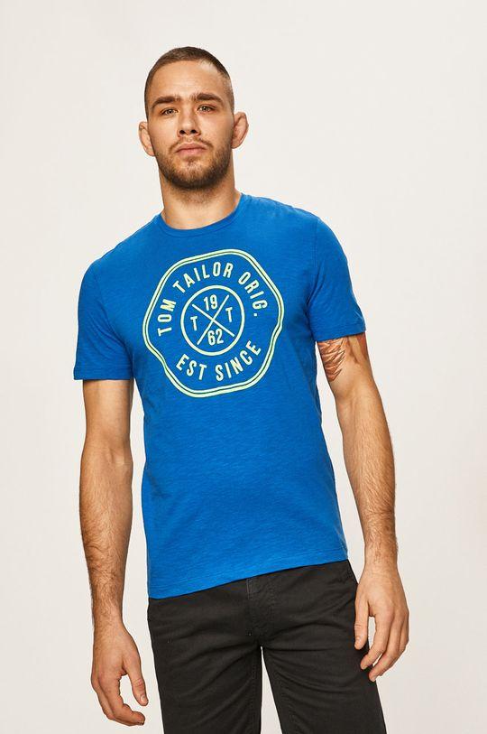 niebieski Tom Tailor Denim - T-shirt Męski