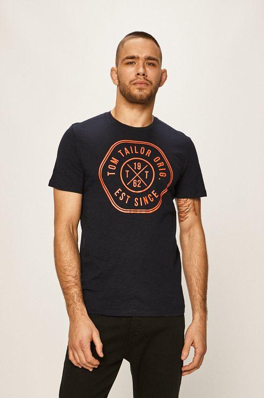 tmavomodrá Tom Tailor Denim - Pánske tričko Pánsky