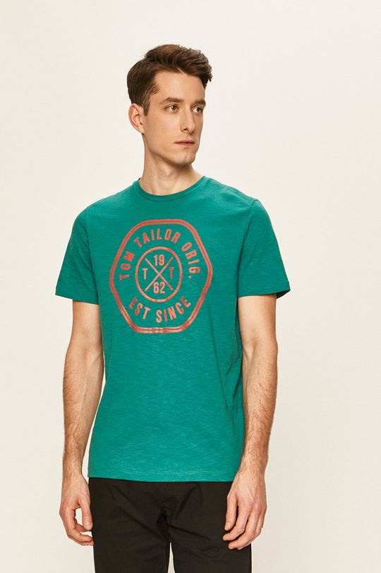 zelená Tom Tailor Denim - Tričko Pánský