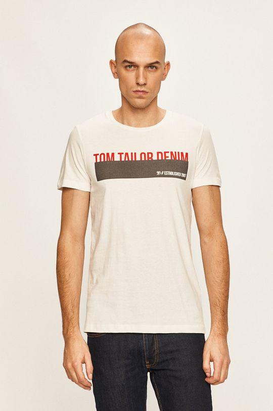 bílá Tom Tailor Denim - Tričko Pánský