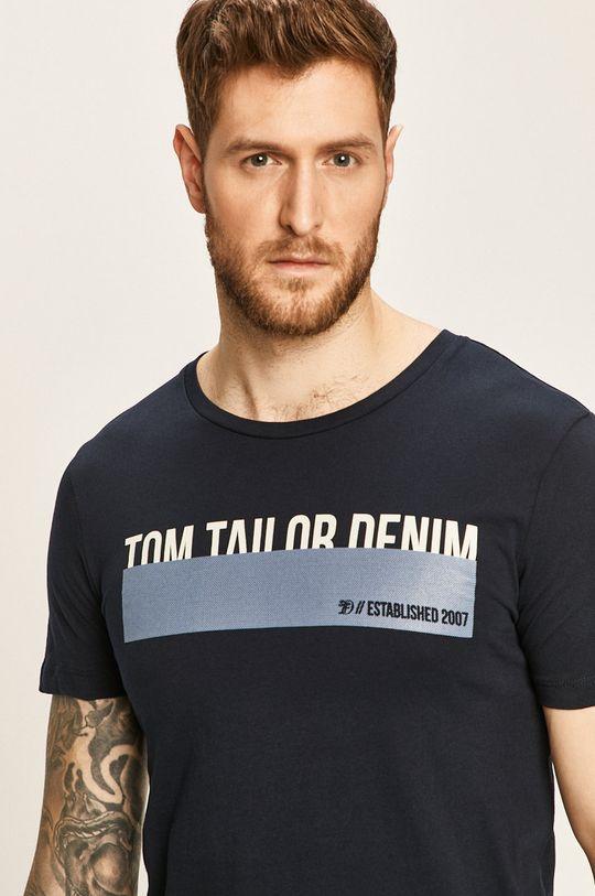 granatowy Tom Tailor Denim - T-shirt Męski