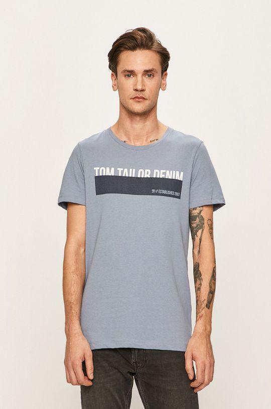 ocelová modrá Tom Tailor Denim - Tričko Pánský