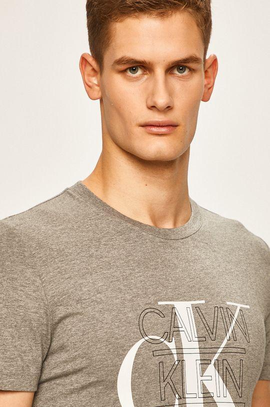 světle šedá Calvin Klein Jeans - Tričko