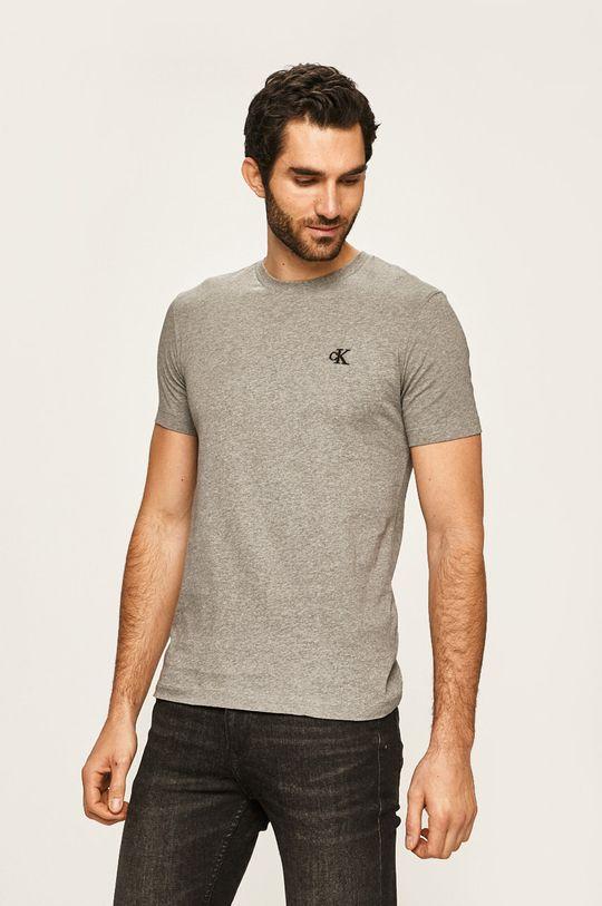 gri deschis Calvin Klein Jeans - Tricou De bărbați