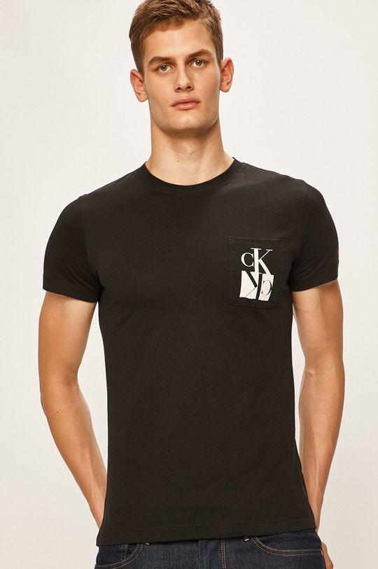 negru Calvin Klein Jeans - Tricou De bărbați