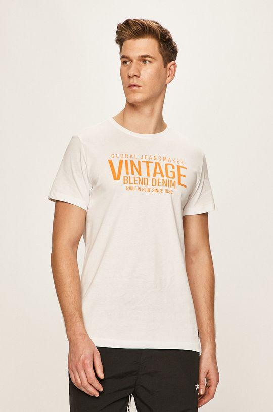biały Blend - T-shirt Męski