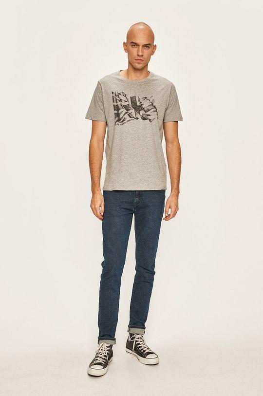 Pepe Jeans - Tričko světle šedá