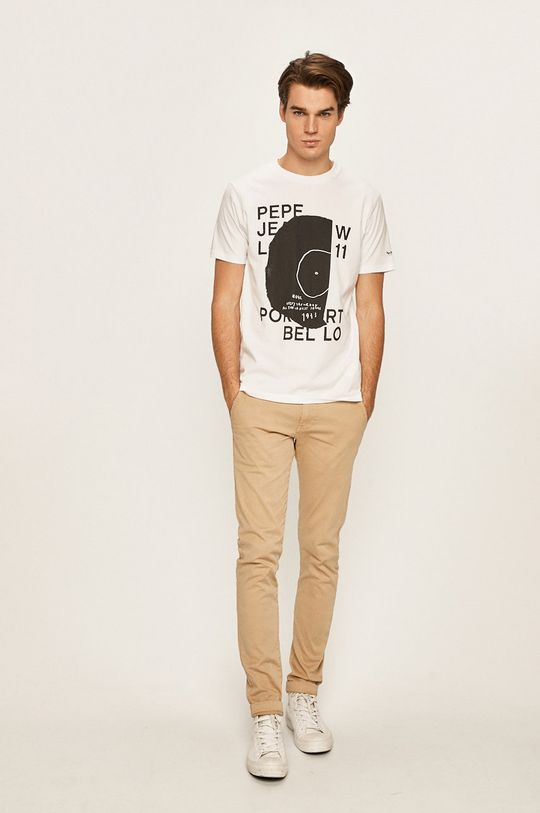 Pepe Jeans - Pánske tričko Doreen biela