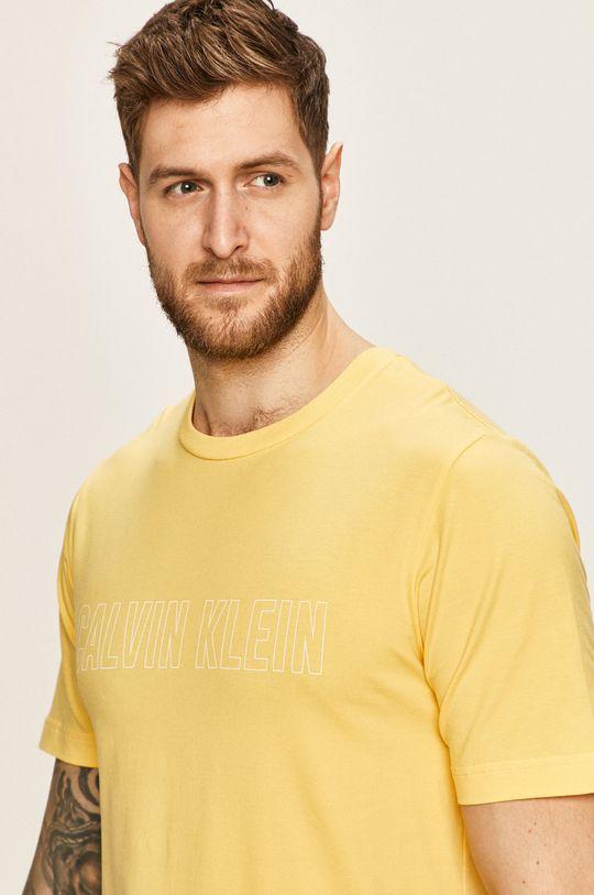 žlutá Calvin Klein Performance - Tričko Pánský