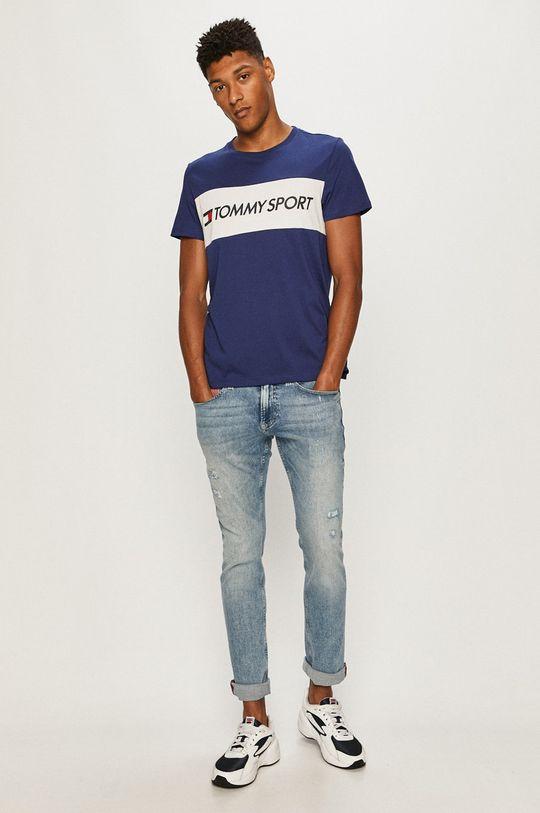 Tommy Sport - Tričko námořnická modř