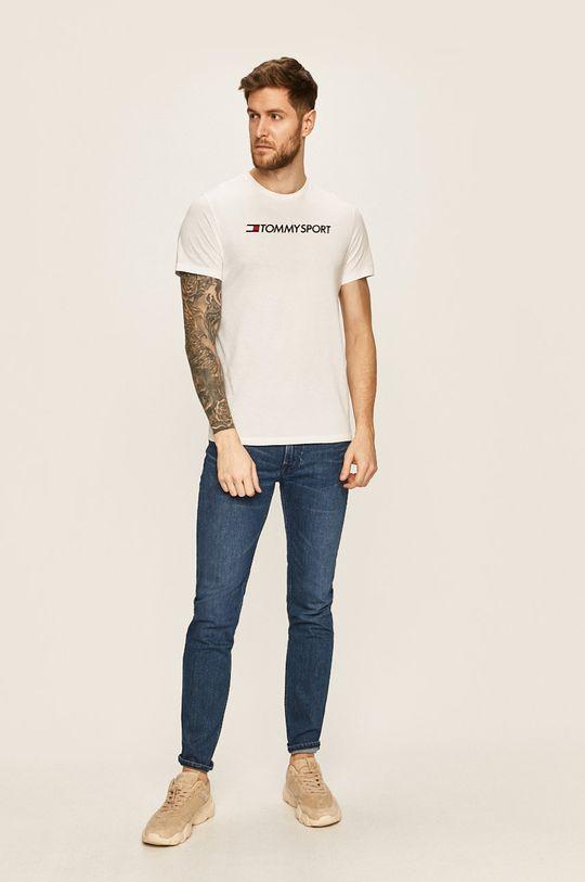 biały Tommy Sport - T-shirt