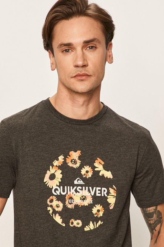 grafitowy Quiksilver - T-shirt Męski
