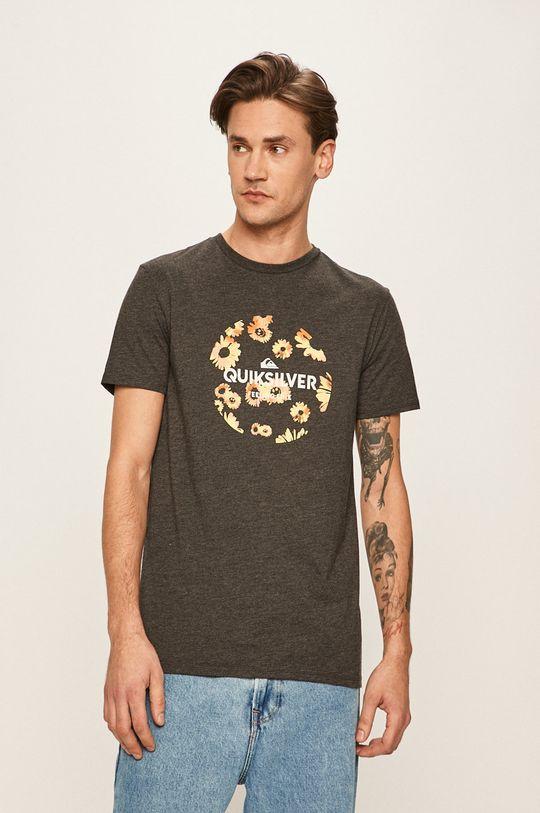 grafitowy Quiksilver - T-shirt