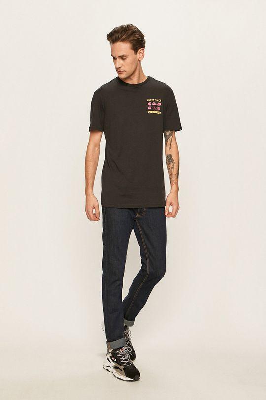 Quiksilver - Pánske tričko čierna