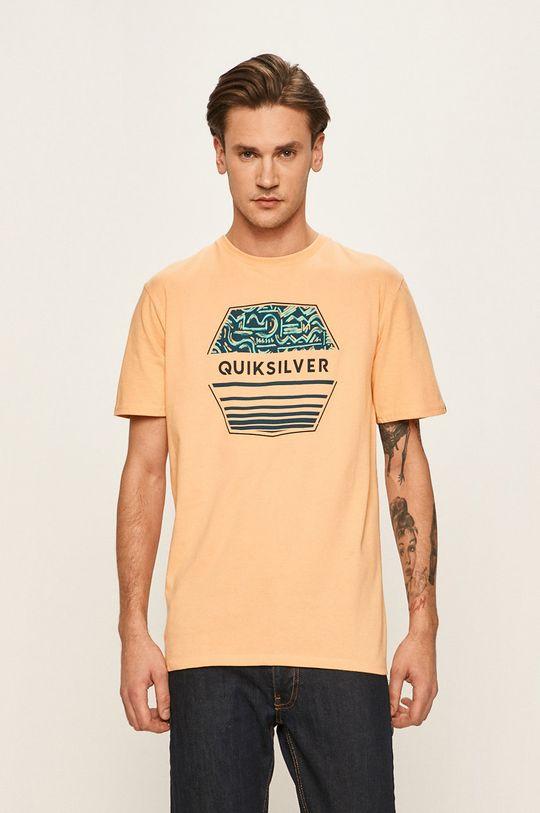 oranžová Quiksilver - Tričko Pánský
