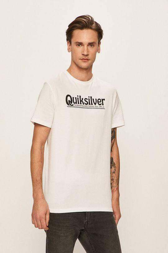 biały Quiksilver - T-shirt Męski