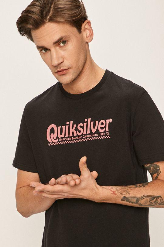 čierna Quiksilver - Pánske tričko Pánsky