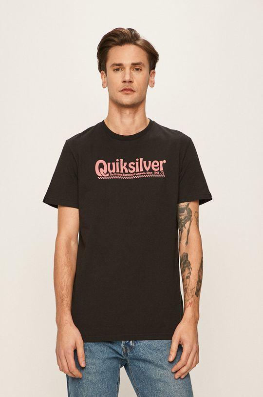 čierna Quiksilver - Pánske tričko