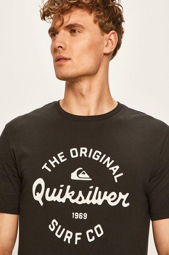 czarny Quiksilver - T-shirt Męski
