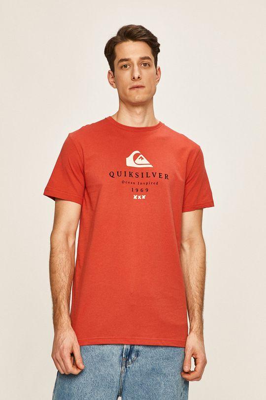 červená Quiksilver - Pánske tričko Pánsky