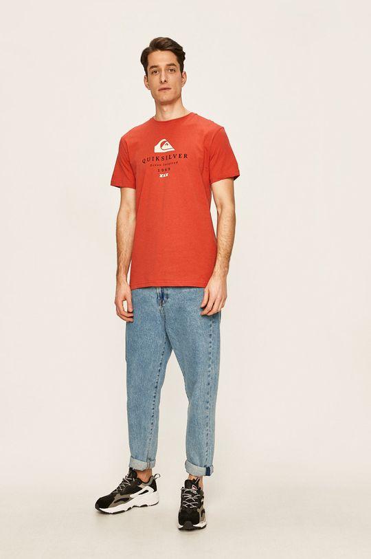 Quiksilver - Pánske tričko červená