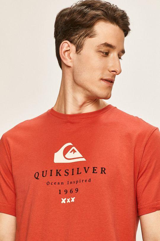 červená Quiksilver - Pánske tričko
