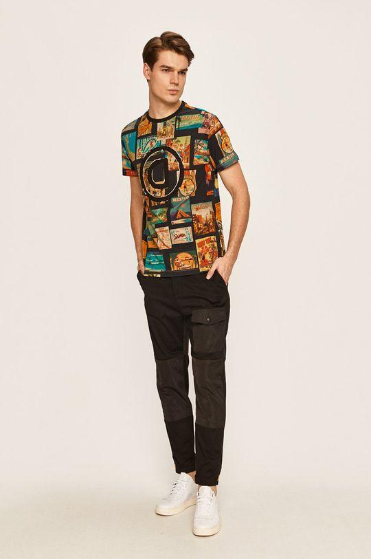 Desigual - Pánske tričko viacfarebná