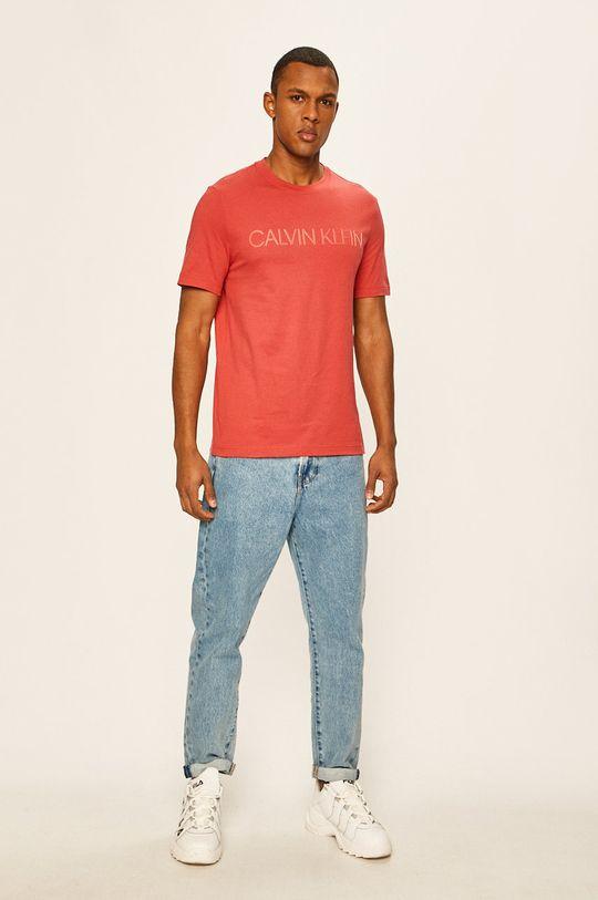 Calvin Klein - T-shirt czerwony