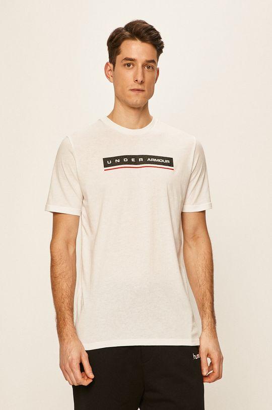 biały Under Armour - T-shirt Męski