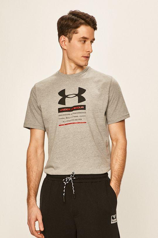 jasny szary Under Armour - T-shirt