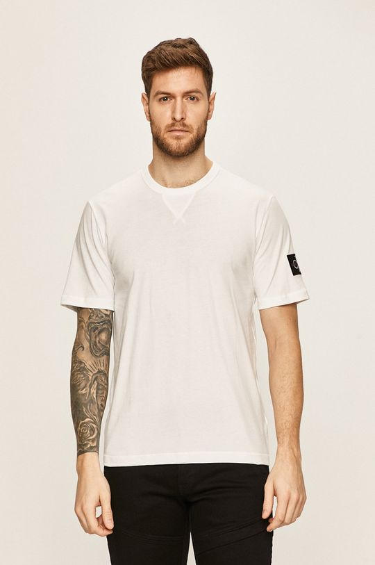 alb Calvin Klein Jeans - Tricou De bărbați