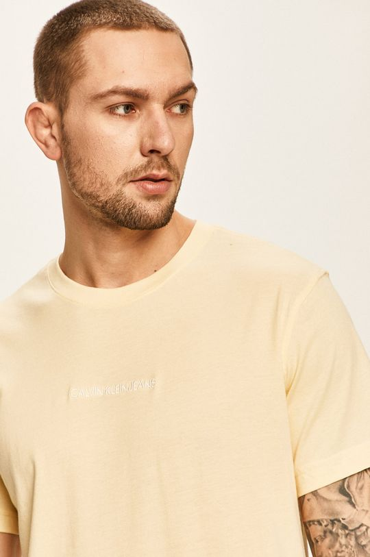 žlutá Calvin Klein Jeans - Tričko Pánský