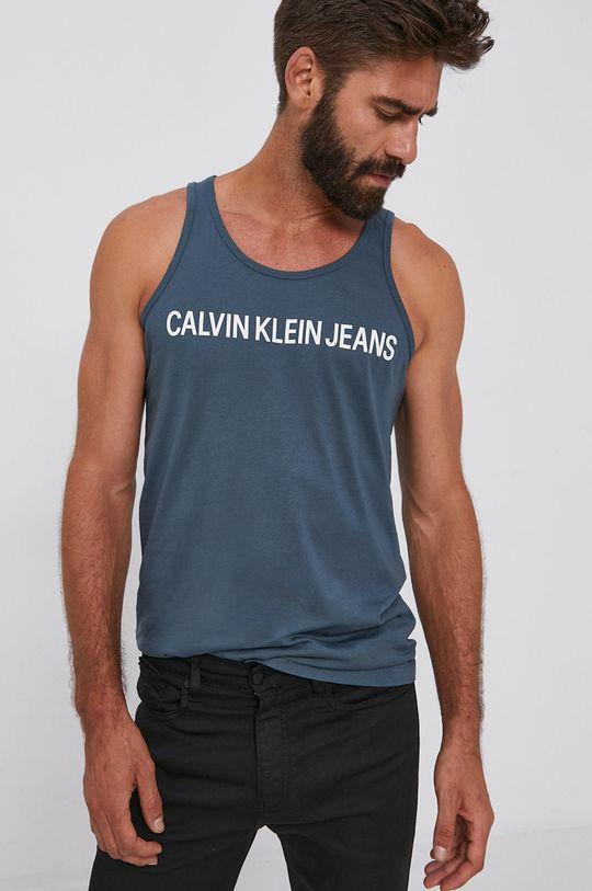 modrá Calvin Klein Jeans - Tričko Pánský