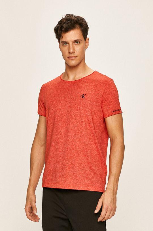 červená Calvin Klein Jeans - Pánske tričko Pánsky