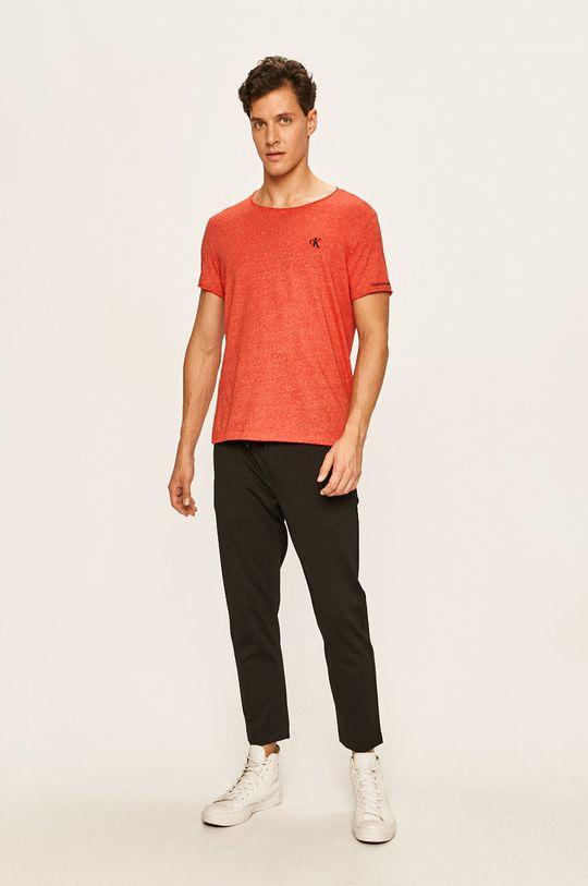 Calvin Klein Jeans - Pánske tričko červená