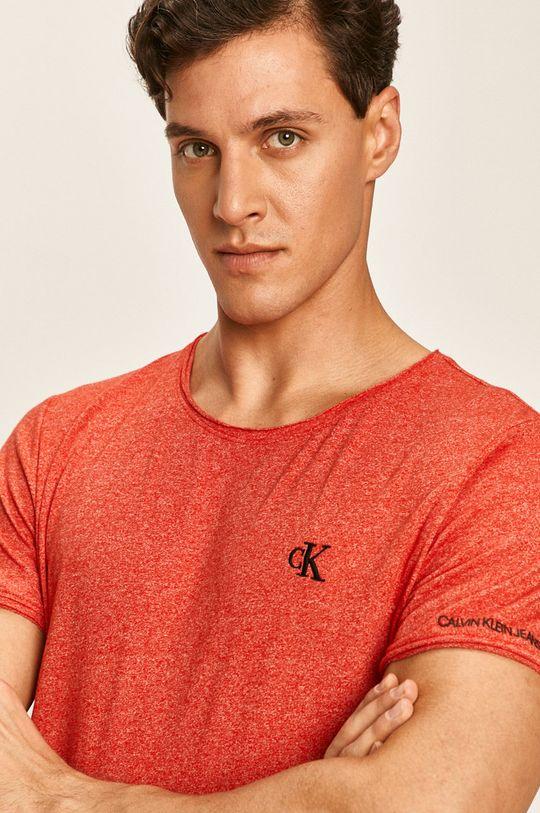 červená Calvin Klein Jeans - Pánske tričko