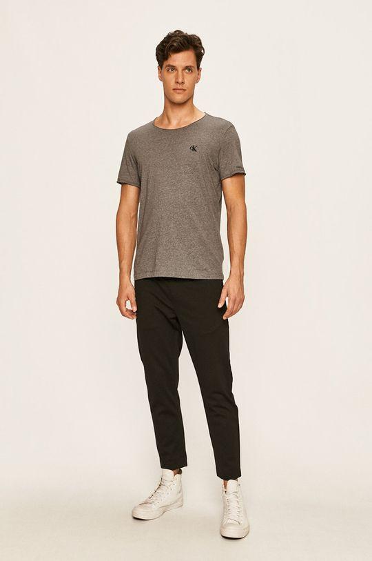 Calvin Klein Jeans - Pánske tričko grafitová