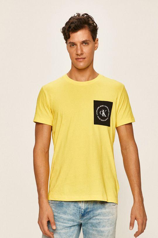 galben Calvin Klein Jeans - Tricou De bărbați