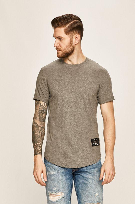 sivá Calvin Klein Jeans - Pánske tričko Pánsky