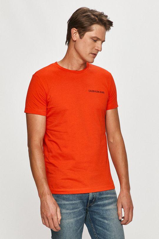 koralová Calvin Klein Jeans - Tričko Pánsky