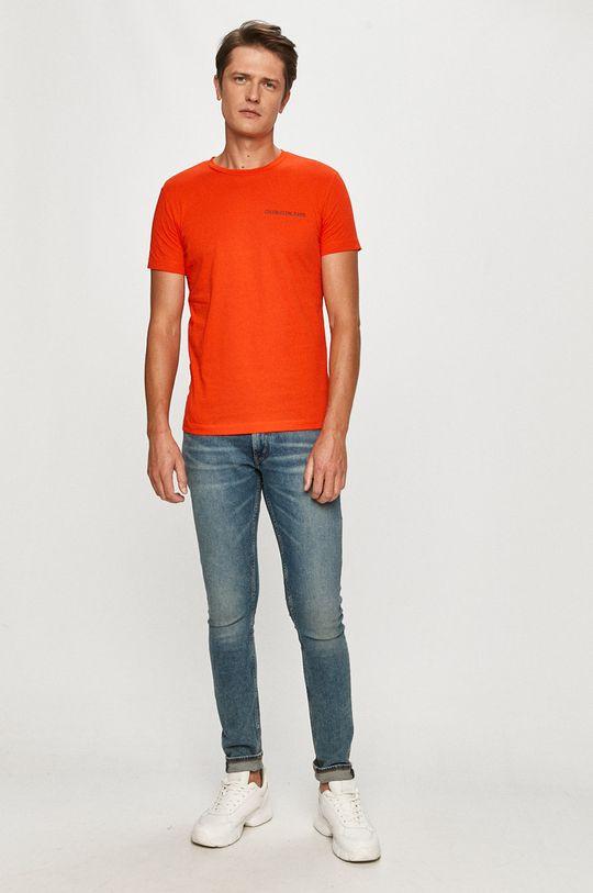 Calvin Klein Jeans - Tričko koralová