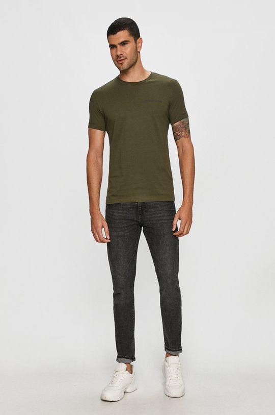 Calvin Klein Jeans - Tričko olivová