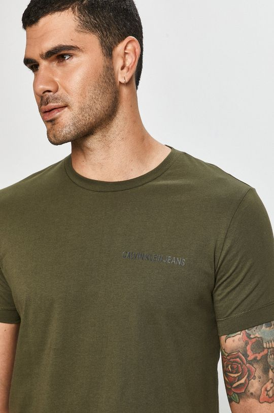 olivová Calvin Klein Jeans - Tričko