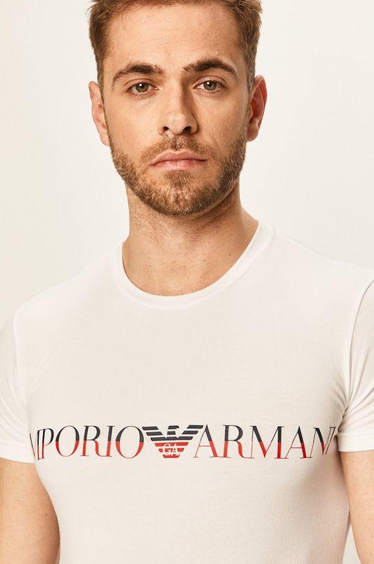 biela Emporio Armani - Pánske tričko Pánsky