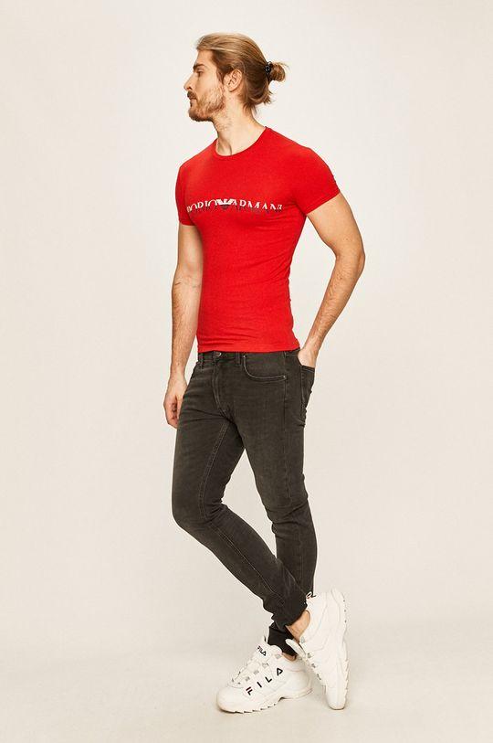Emporio Armani - T-shirt czerwony