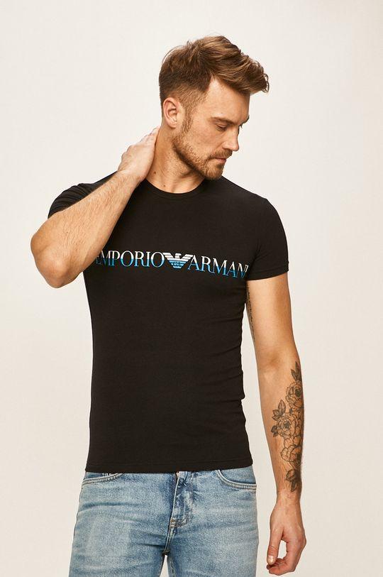 čierna Emporio Armani - Pánske tričko Pánsky